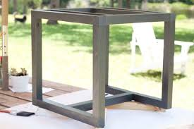 diy outdoor coffee table outdoor side table pottery barn knockoff