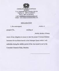 Visa Covering Letter Format Letter Format Declaration Letter Format Cover Letter And