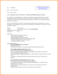Resume Sending Mail Sample by Resume Email With Resume Sample
