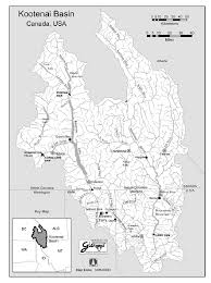Map Of Idaho And Montana by Map Of The Kootenai River Basin In British Columbia Montana And