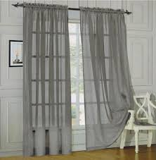 amazon com elegant comfort 2 piece solid sheer window curtains amazon com elegant comfort 2 piece solid sheer window curtains 60 x 84 inch silver home kitchen