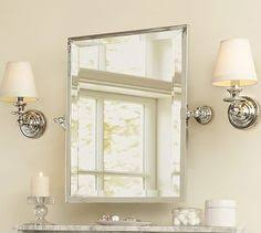 Pottery Barn Mirrors Bathroom by Pottery Barn Round Kensington Pivot Mirror And Glass Shelf Home
