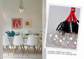 Create A Chandelier Extraordinary Hanging Bulb Chandelier Elegant Home Design Styles