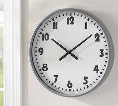 Modern Wall Clock Sophie Modern Wall Clock Pottery Barn