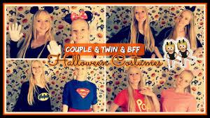 couples halloween costumes ideas 2017 8 bff couple twin halloween costume ideas youtube