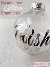 personalized diy glitter ornaments