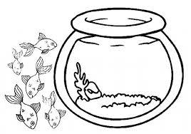 fish fish bowl coloring download print
