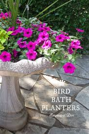 Flower Pot Bird Bath - bird bath planter garden ideas pinterest bird bath planter