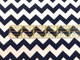 navy chevron fabric quilting cotton home decor apparel fabric