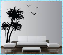 cool beach wall decals home decorations ideas image of palm tree beach wall decals