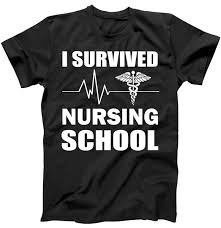 nursing shirt i survived nursing school t shirt teeshirtpalace