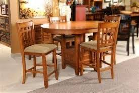 mission style dining room set pub style dining set foter