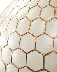 Gold Capiz Chandelier Capiz Honeycomb Chandelier Serena U0026 Lily