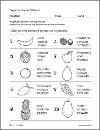 prutas p4 filipino worksheets pinterest pre