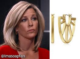 carlys haircut on general hospital show picture carly corinthos s gold sunburst hoop earrings general hospital