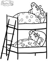 peppa pig brother bed coloring coloring sky