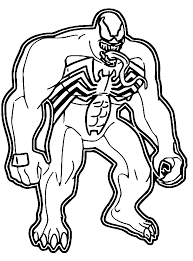 coloring pages of venom coloring home