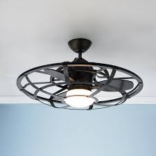 grey ceiling fan with light cool brette ceiling fan revealing caged fans industrial cage shades
