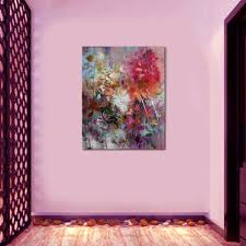 new home decoration flower oil painting pure manual drawing high