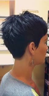 front and back views of chopped hair back view of short pixie hairstyles hair cuts pinterest