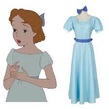 xxxl size long blue dress peter pan wendy darling