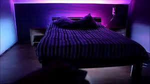 Led Lights For Bedroom 5050 Smd Rgb Led Strip 44 Key Remote Controller Mounted On Bed
