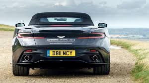 aston martin back teaser reveals the rear end design of the 2018 aston martin db11