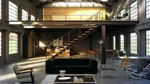 industrial warehouse loft apartment kitchen home design
