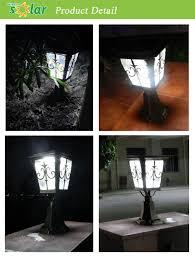 solar powered pillar lights high quality garden pillar light outdoor lighting for garden