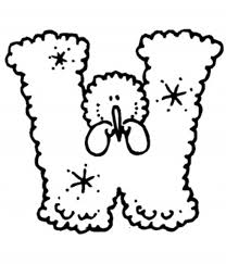 snow letter o alphabet coloring pages alphabet coloring pages of
