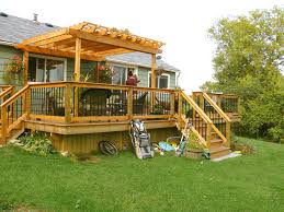 Solid Roof Pergola Kits by Wood Arbor Plans Over A Deck Decks Sheds And More Wood