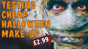testing cheap halloween makeup mummy youtube