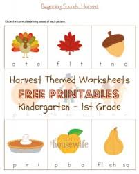 harvest themed worksheets free printables the happy housewife
