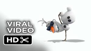 frozen viral video olaf u0027s dance 2013 disney animated movie