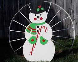 snowmanchristmas decor outdoor wood yard lawn decoration