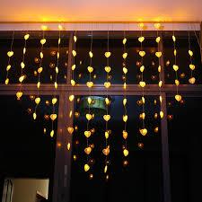 heart shaped christmas lights holiday lights christmas lights garden decorative led lights curtain