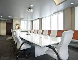 Back Painted Glass Conference Table White Glass Conference Table Ambience Doré