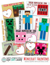 minecraft valentines printable minecraft valentines cards for the class craft laundry