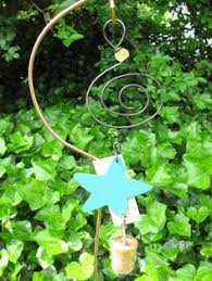garden ornament chime reclaimed metal blue om products