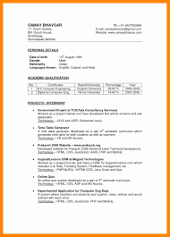 best resume format for executives resume format for mis executive best of 6 indian cv sle resume