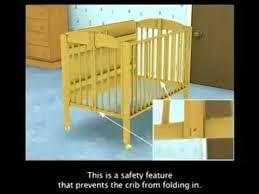 dream on me folding full size portable crib style 673 youtube