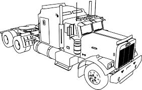 semi truck coloring page virtren com