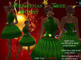 second life marketplace christmas tree dress boxed