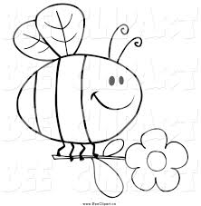 royalty free coloring page stock bee designs