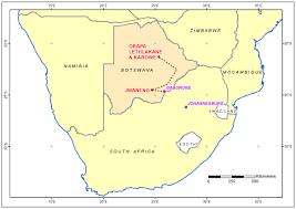 Botswana Map International Kimberlite Conference Field Trip 1 Desert Gems