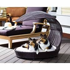 Chaise Beds Amazon Com Outdoor Dog Chaise Bed N Espresso Large Dog Beds