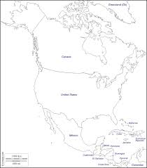 Blank Map Of North America by North America Free Map Free Blank Map Free Outline Map Free