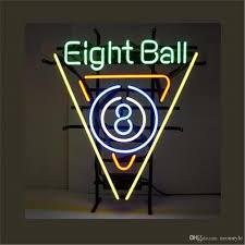 eight ball pinball gameroom business neon sign custom store