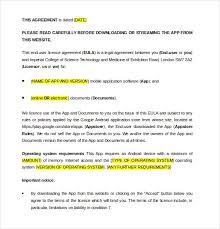 license agreement template u2013 10 free word pdf document download