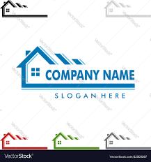 real estate logo design home house logo royalty free vector